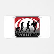 Evolution Martial Arts Aluminum License Plate
