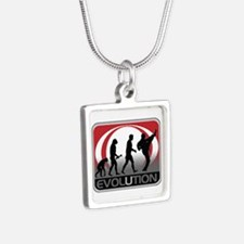 Evolution Martial Arts Silver Square Necklace