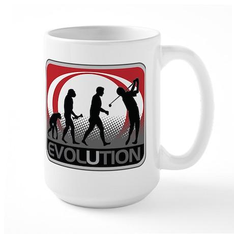 Evolution Golfer Large Mug