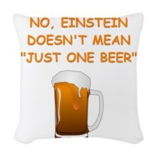 physics Woven Throw Pillow