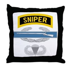 Sniper CIB Airborne Throw Pillow