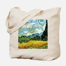 Van Gogh - Wheat Field with Cypresses Tote Bag