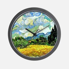 Van Gogh - Wheat Field with Cypresses Wall Clock