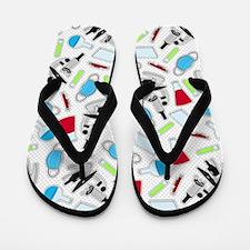 Cute Laboratory Pattern Flip Flops