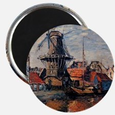 Monet - Windmill on the Onbekende Canal, Am Magnet