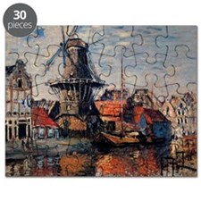 Monet - Windmill on the Onbekende Canal, Am Puzzle