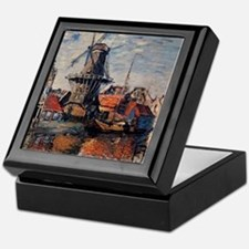 Monet - Windmill on the Onbekende Can Keepsake Box