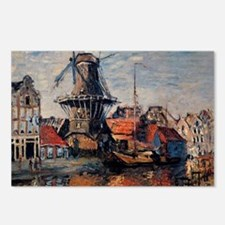 Monet - Windmill on the O Postcards (Package of 8)
