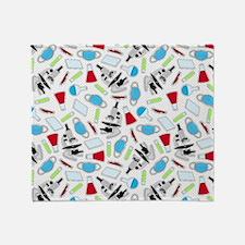 Cute Laboratory Pattern Throw Blanket