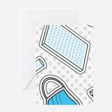 Cute Laboratory Pattern Greeting Cards