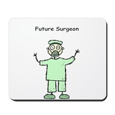 Future Surgeon Green Scrubs Mousepad