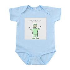 Future Surgeon Green Scrubs Infant Bodysuit