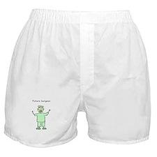 Future Surgeon Green Scrubs Boxer Shorts