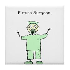 Future Surgeon Green Scrubs Tile Coaster