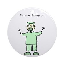 Future Surgeon Green Scrubs Ornament (Round)
