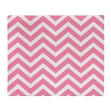 Pink and white chevrons Throw Blanket