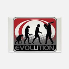 Evolution Baseball Rectangle Magnet