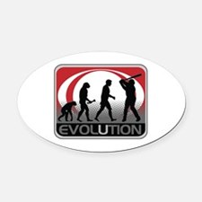 Evolution Baseball Oval Car Magnet