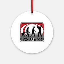 Evolution Baseball Ornament (Round)