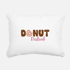 Donut Disturb Rectangular Canvas Pillow