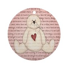 LOVEY BEAR Ornament (Round)