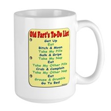 OldFartShort12x14YellowTRANS-a Mugs