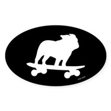 Skateboarding Bulldog Decal