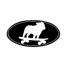 Skateboarding Bulldog Patches