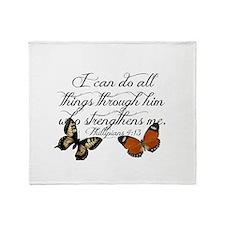 Phillipians 4:13 Throw Blanket