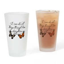 Phillipians 4:13 Drinking Glass