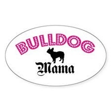 Frenchie Mama Oval Decal