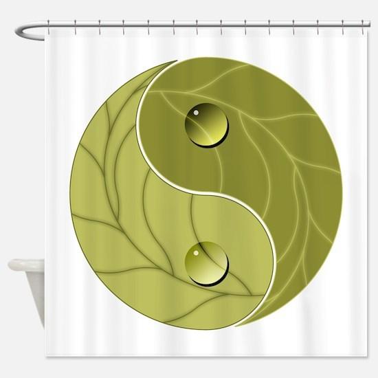 Yin Yang Nature Shower Curtain
