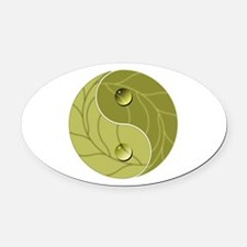 Yin Yang Nature Oval Car Magnet