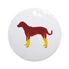 Catahoula Flames Ornament (Round)