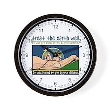 Treat the Earth Well Wall Clock