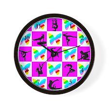 AMAZING GYMNAST Wall Clock
