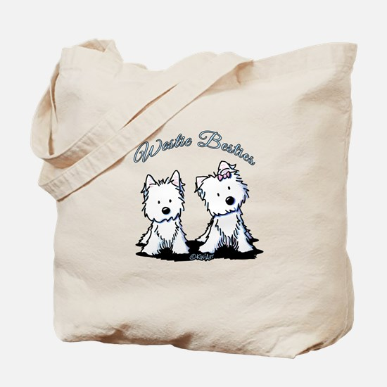 Westie Besties Tote Bag