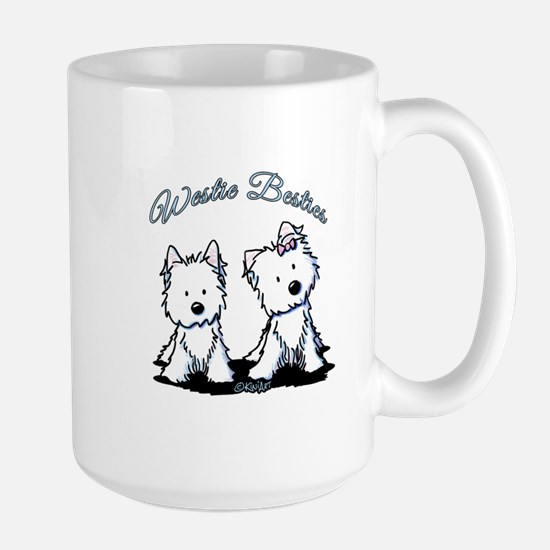 Westie Besties Large Mug