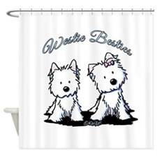 Westie Besties Shower Curtain