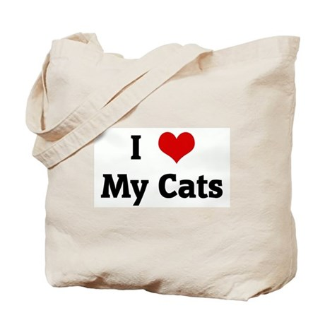 I Love My Cats Tote Bag
