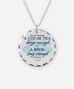 Tea Quote Necklace