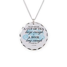 Tea Quote Necklace Circle Charm