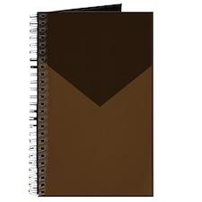Chocolate Brown Chevron Journal