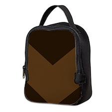 Chocolate Brown Chevron Neoprene Lunch Bag