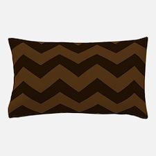 Chocolate Brown Chevron Pillow Case