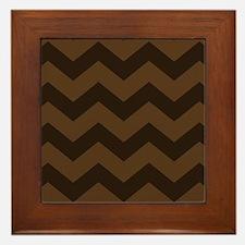Chocolate Brown Chevron Framed Tile