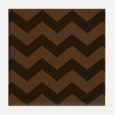 Chocolate Brown Chevron Tile Coaster