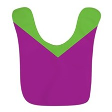 Purple and Green Chevron Bib