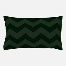 Dark Forest Green Chevron Pillow Case