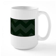 Dark Forest Green Chevron Mugs